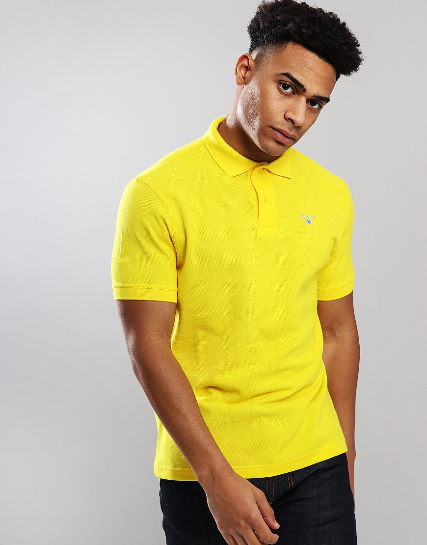 Barbour Sport Polo Shirt Empire Yellow