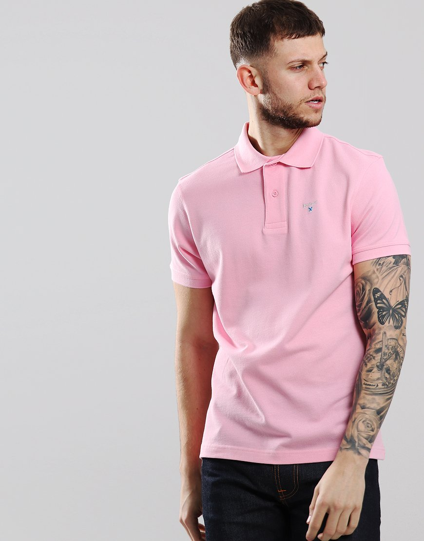 Barbour Sport Polo Shirt Pink