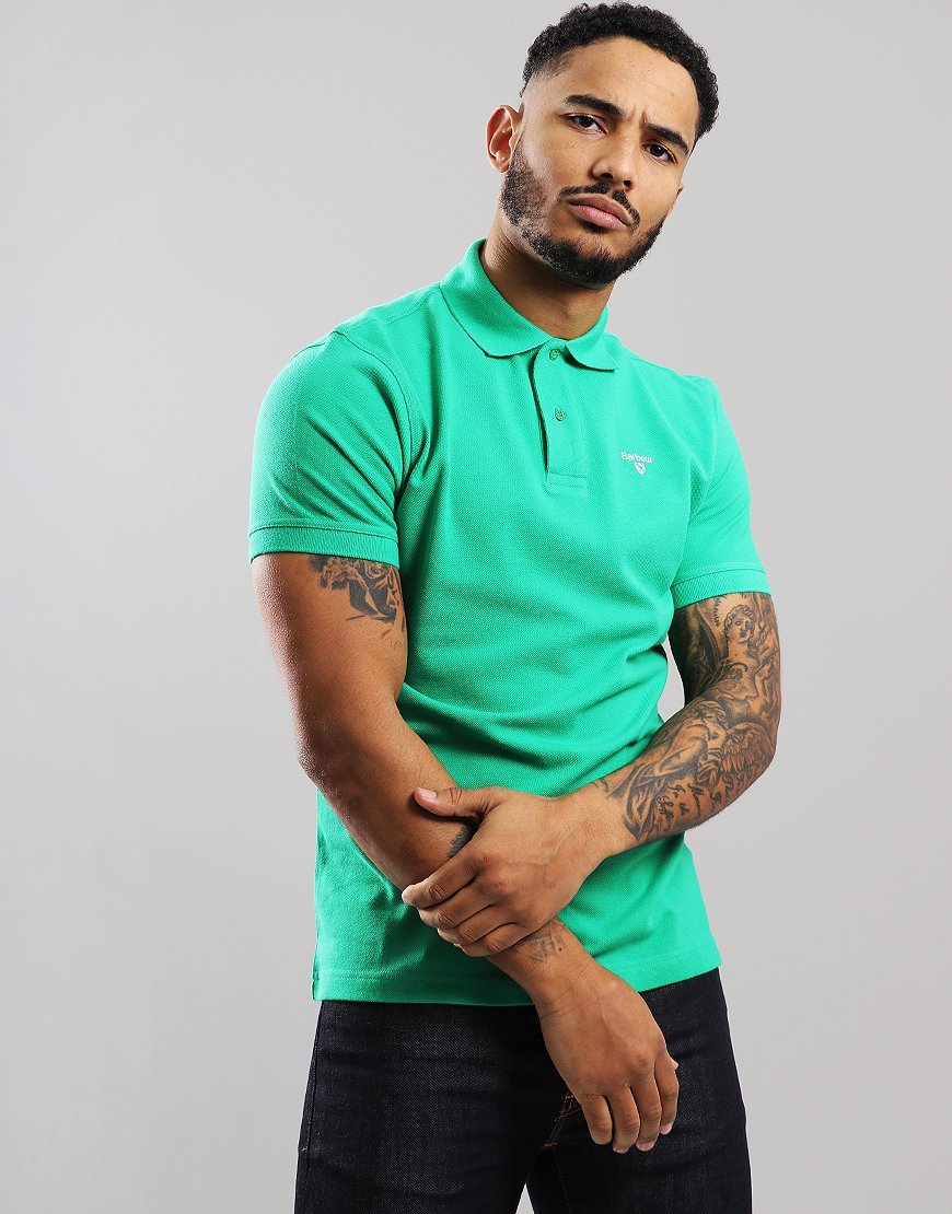 Barbour Sport Polo Shirt Bright Green