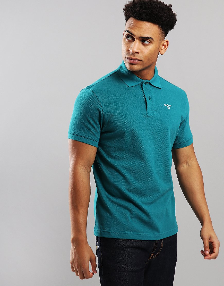 Barbour Sport Polo Shirt Spruce