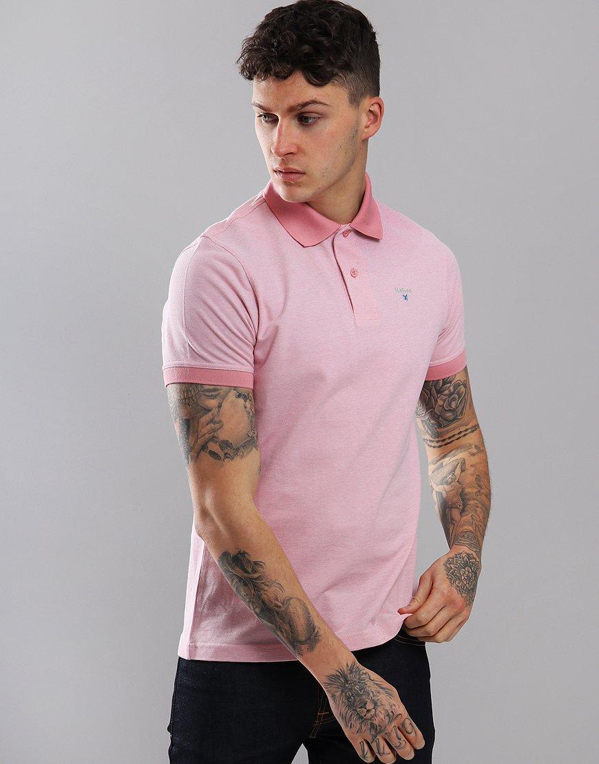 Barbour Sports Mix Polo Shirt Dusky Pink