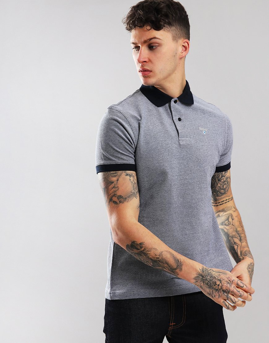 Barbour Sports Mix Polo Shirt Midnight