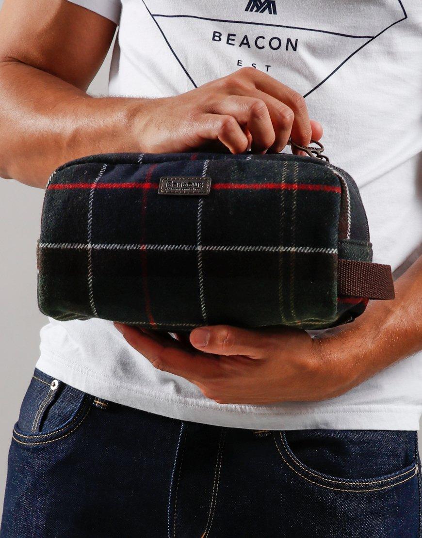 Barbour Tartan Wool Wash Bag Classic Tartan