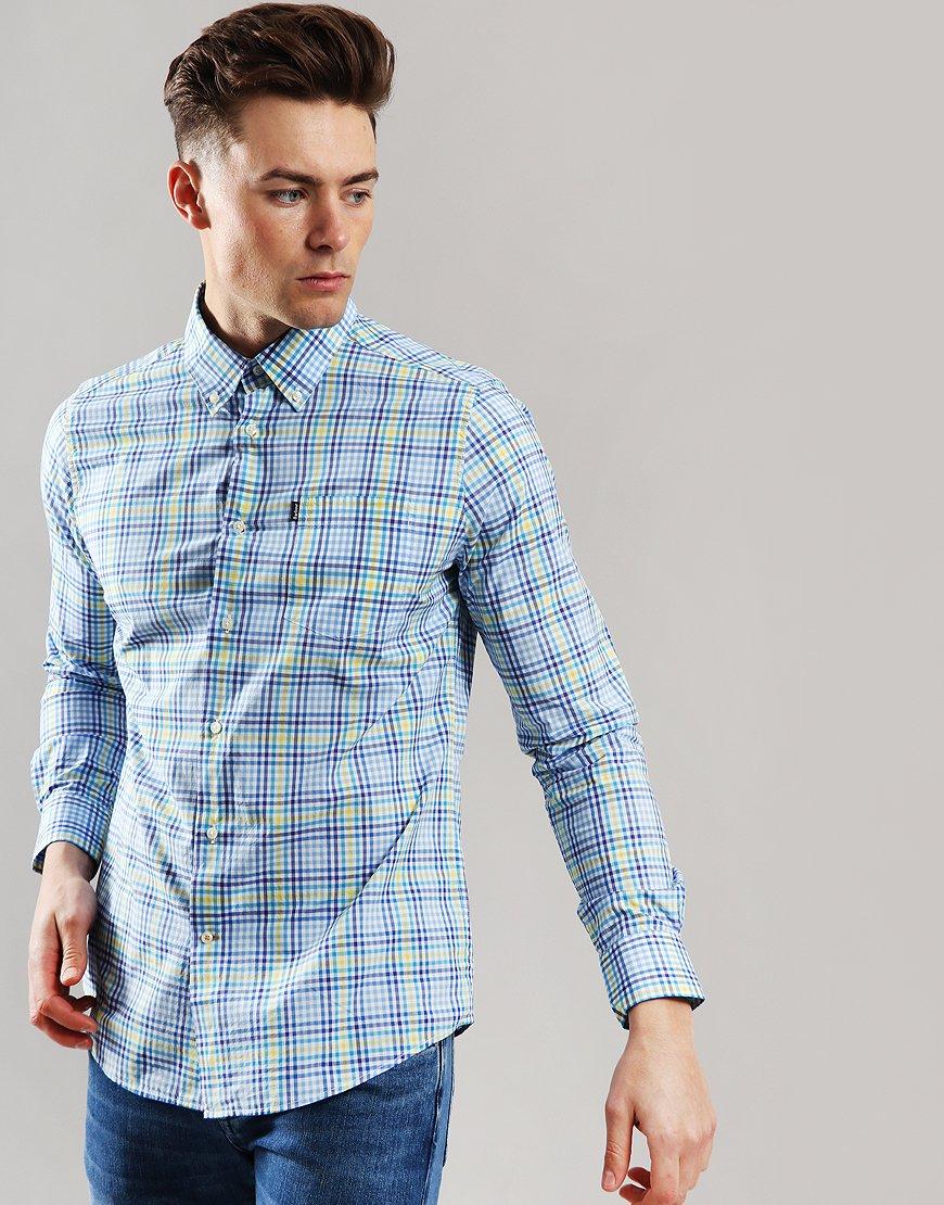 Barbour Tattersal 3 Long Sleeve Shirt Blue