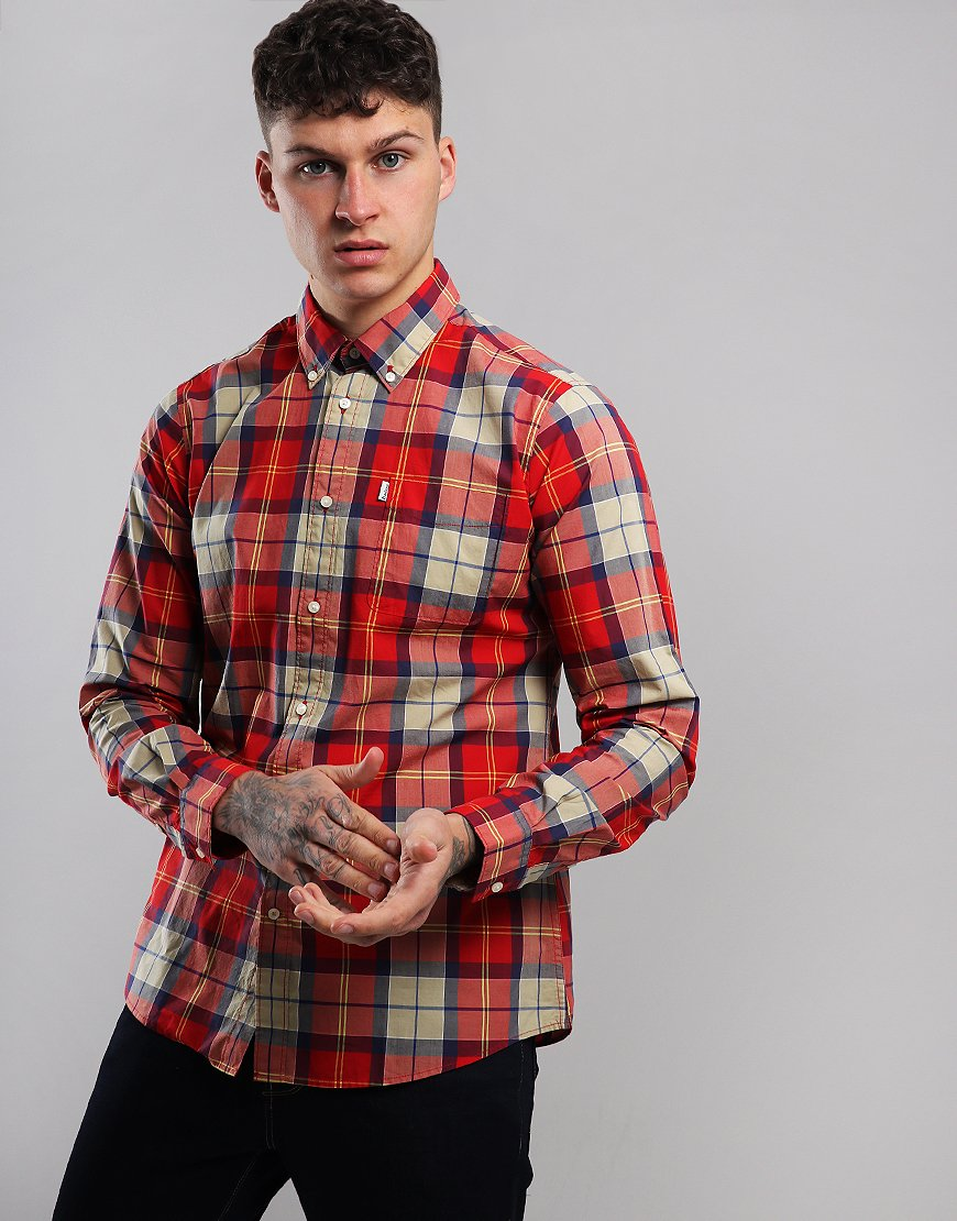 Barbour Toward Shirt  Red