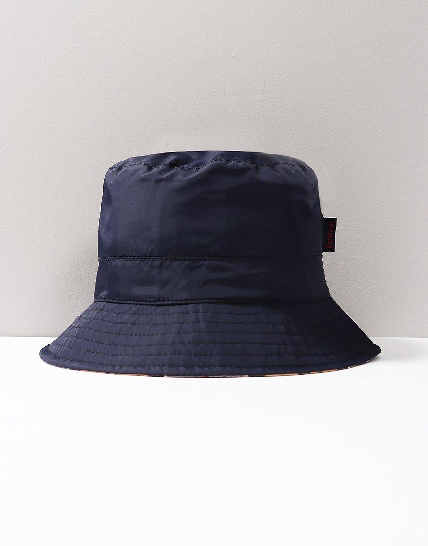 Barbour Waterproof Reversible Hat Navy/Tartan
