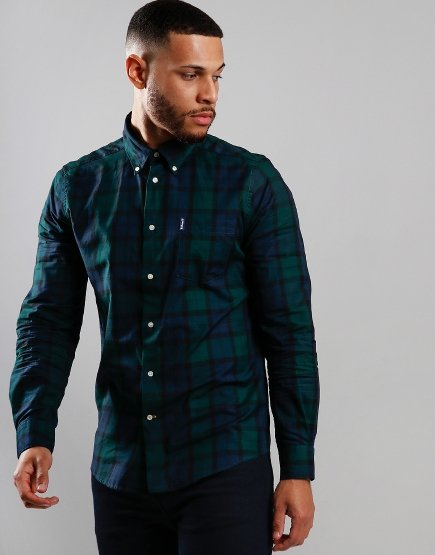 Barbour Wetheram Long Sleeve Tailored Shirt Black Watch Tartan