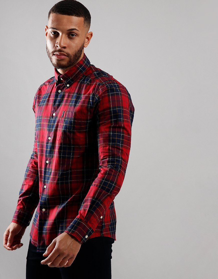 Barbour Wetheram Long Sleeve Tailored Shirt Red