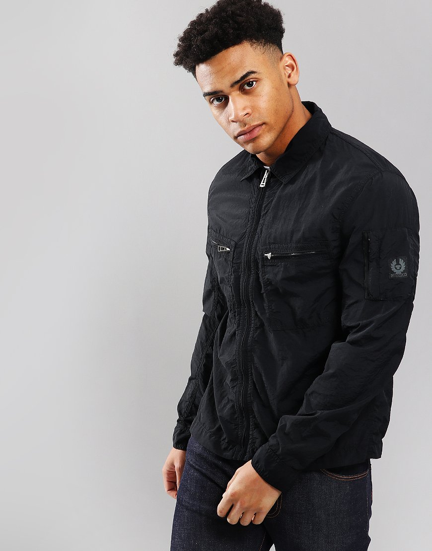 Belstaff Aldington Overshirt Jacket Black