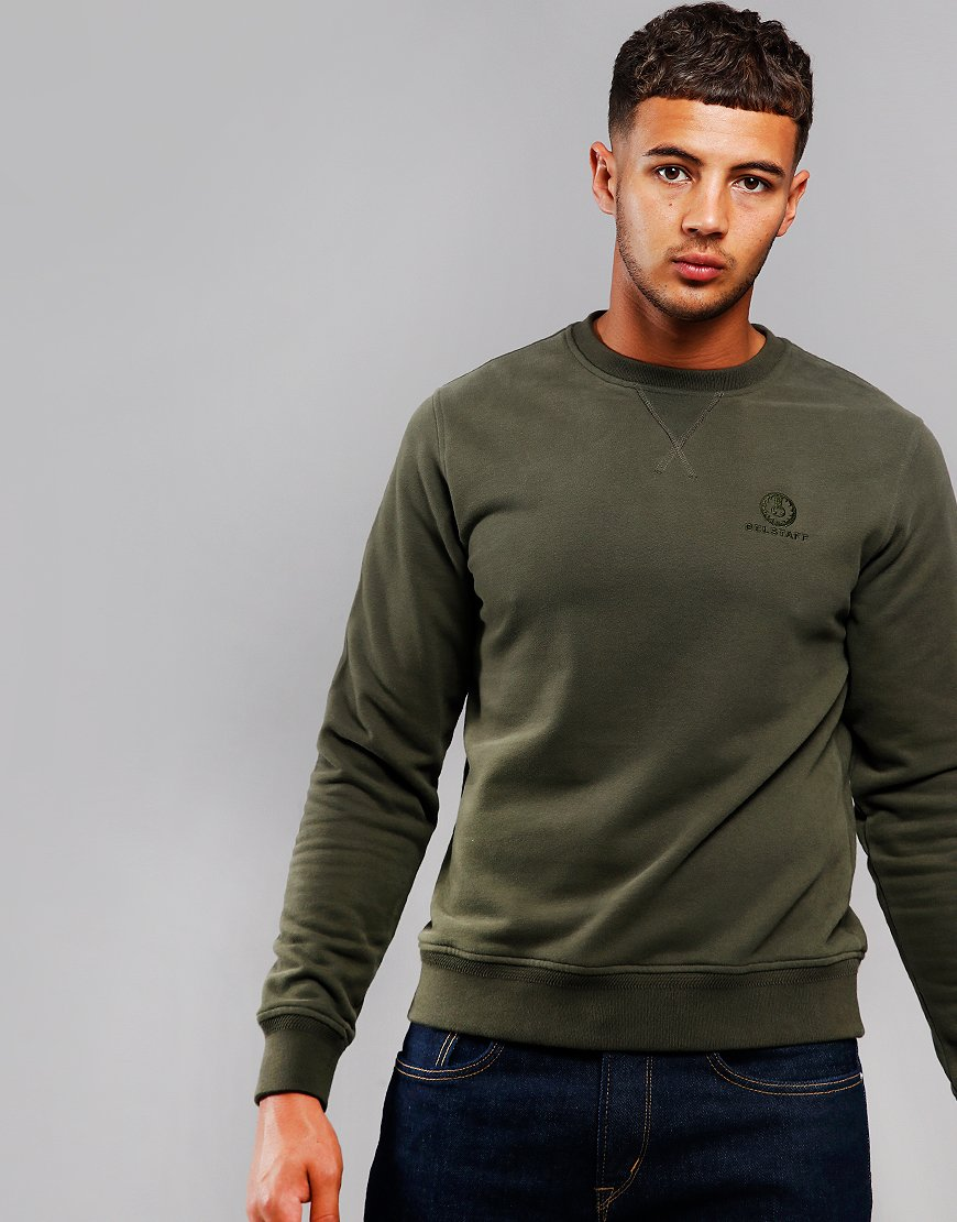 Belstaff Crew Neck Sweat Dark Pine
