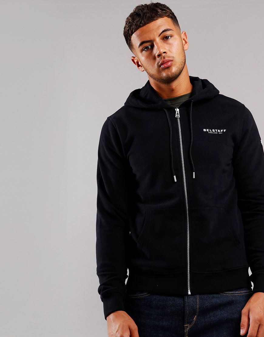 Belstaff 1924 Hooded Zip Sweat Black