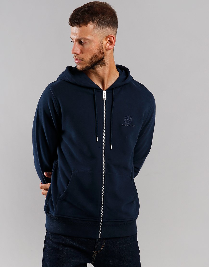 Belstaff Hooded Zip Sweat  Navy