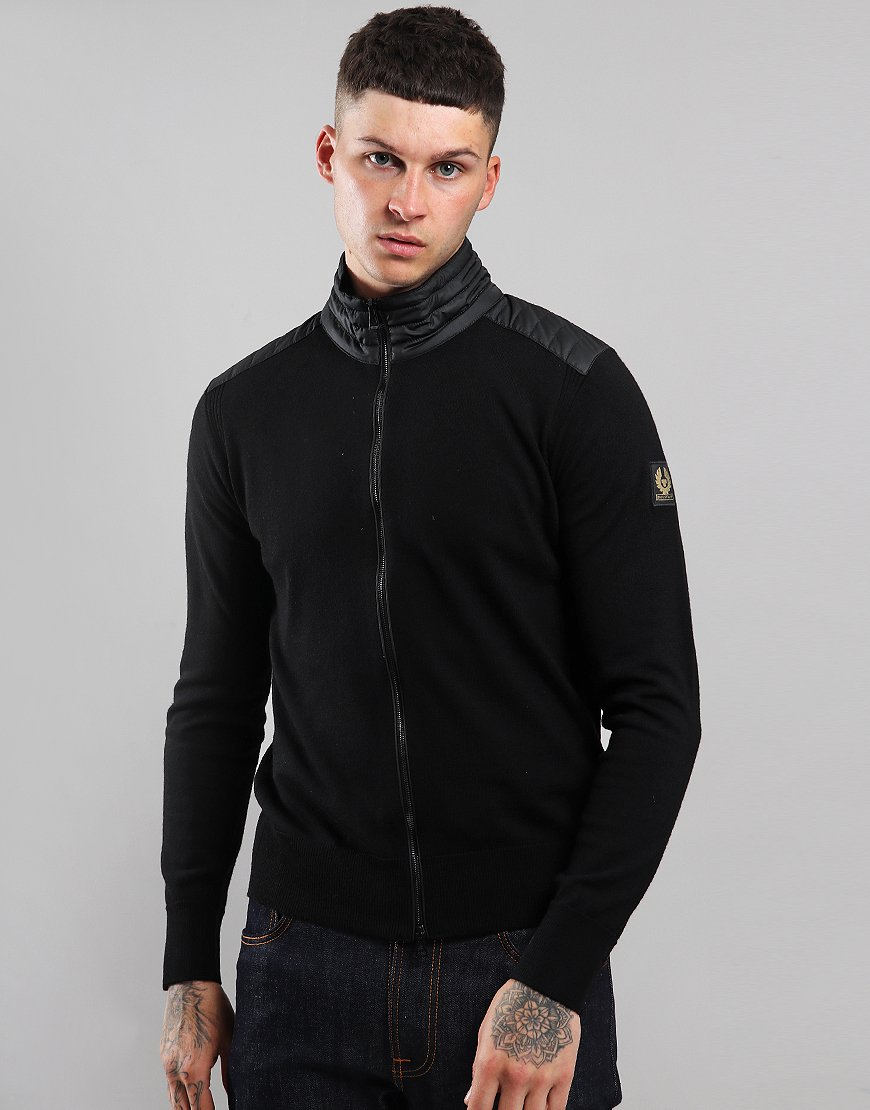 Belstaff Kelby Zip Neck Knit Black