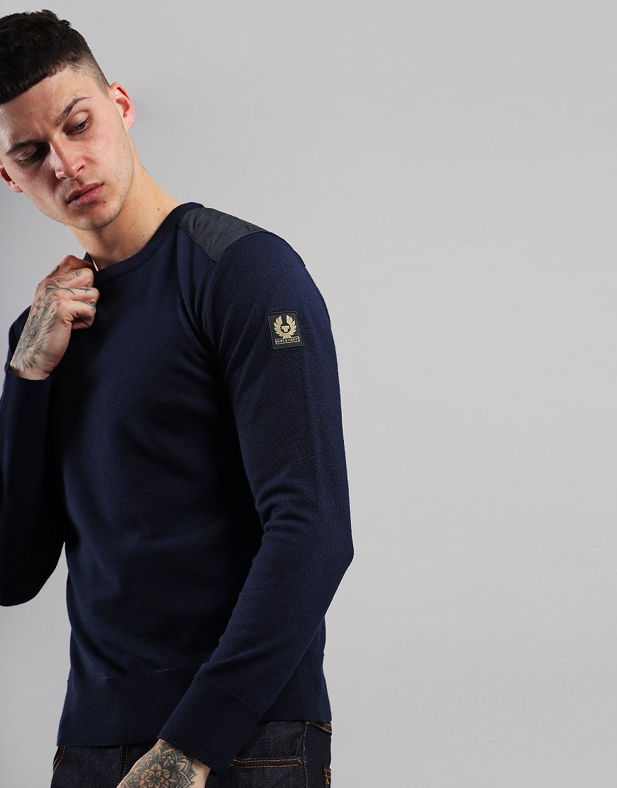 Belstaff Kerrigan Crew Neck Knit Navy