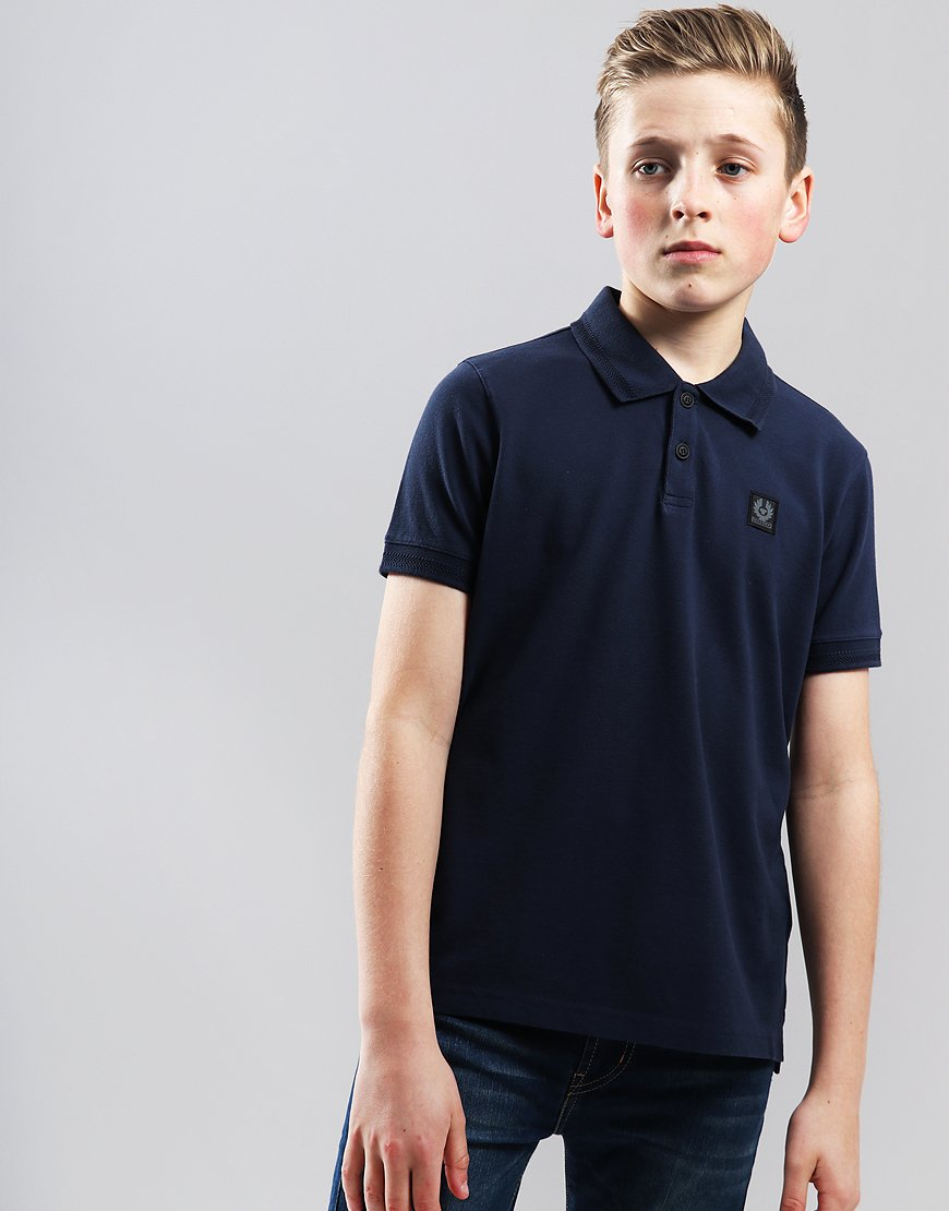 Belstaff Kids Stannet Polo Shirt Navy
