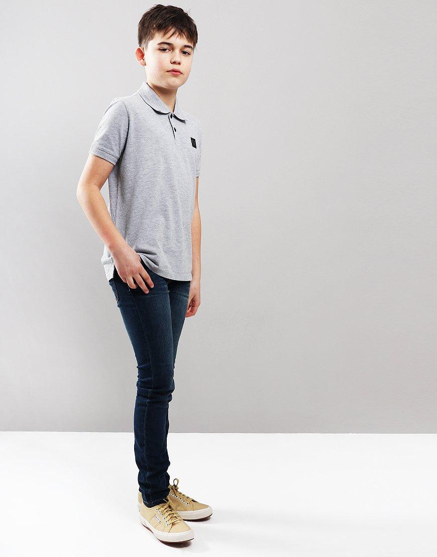 Belstaff Kids Stannet Polo Shirt Pale Grey Melange