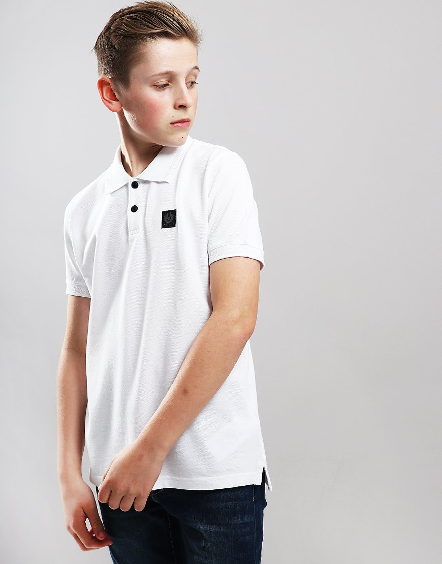 Belstaff Kids Stannett Polo Shirt White
