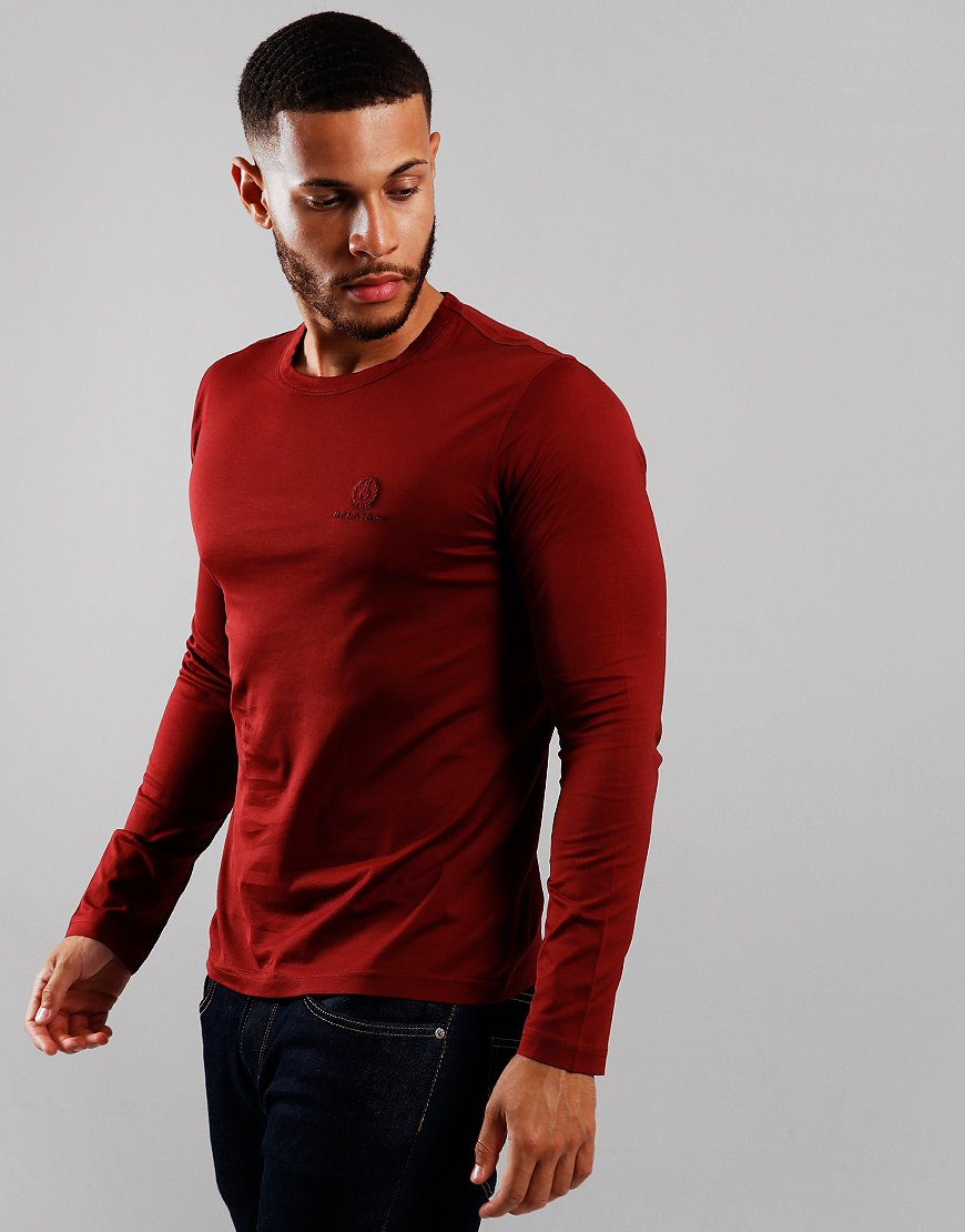 Belstaff Long Sleeve T-Shirt Dark Carnelian