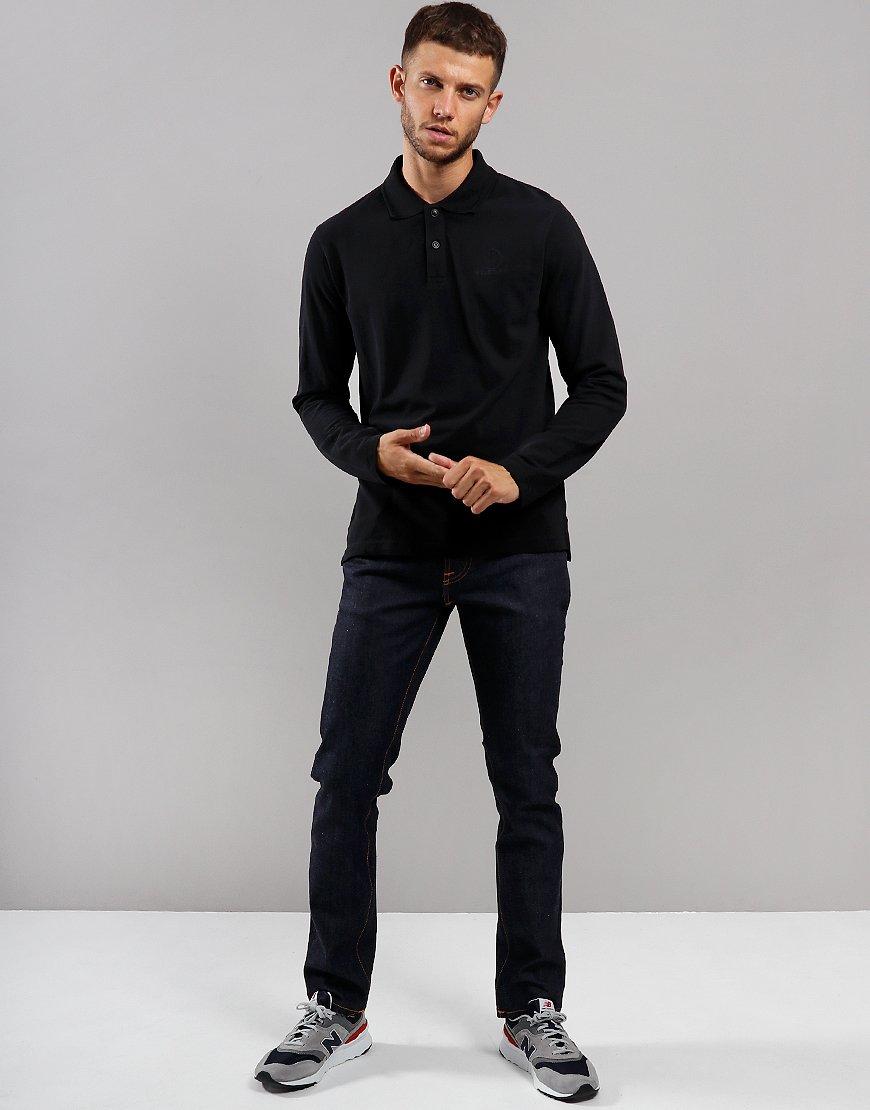 Belstaff Long Sleeve Polo Shirt Black