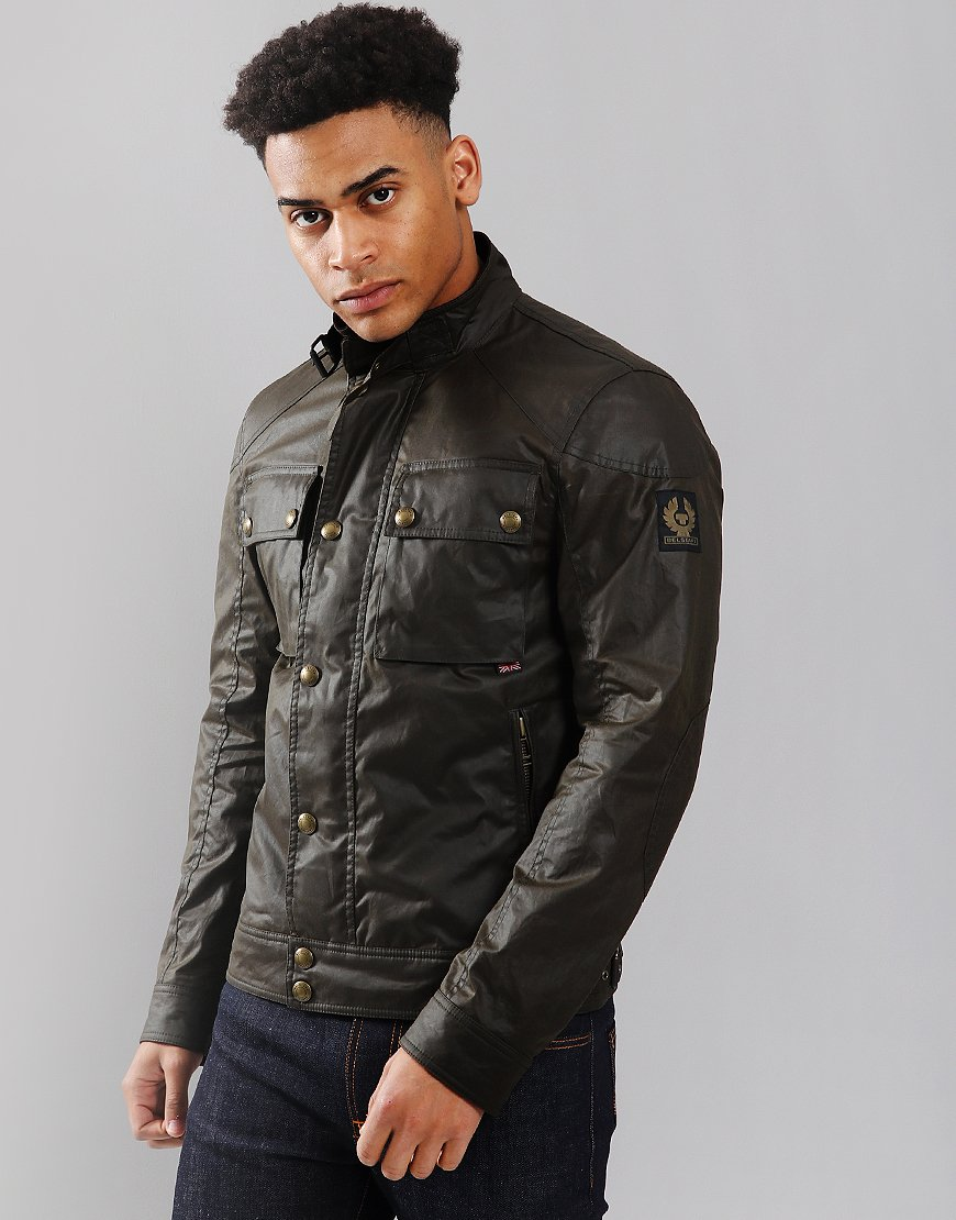Belstaff Racemaster Jacket Faded Olive