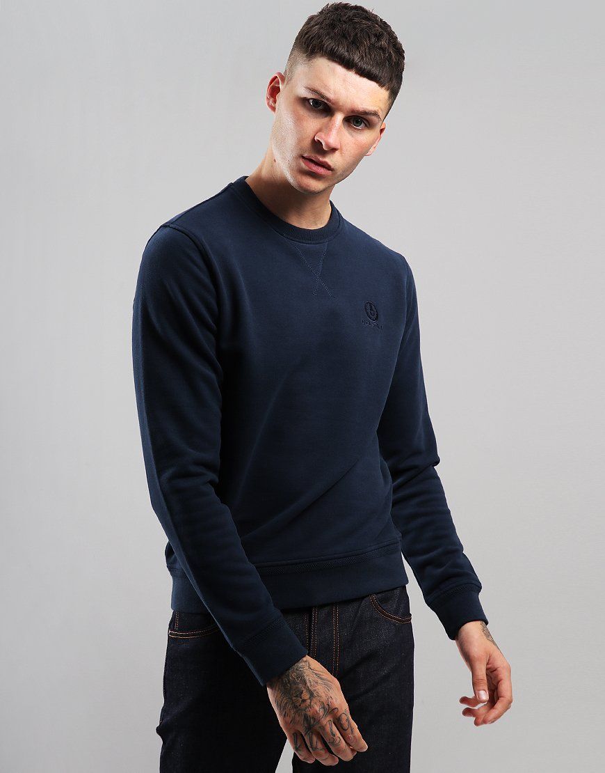 Belstaff Crew Neck Sweat Navy