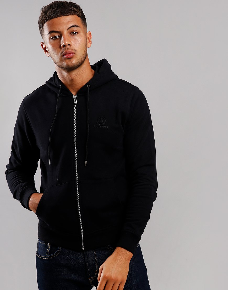 Belstaff Hooded Zip Sweat Black
