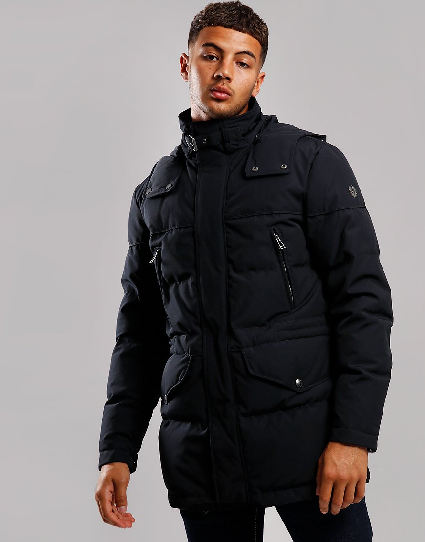 Belstaff Traverse Parka Jacket Dark Navy