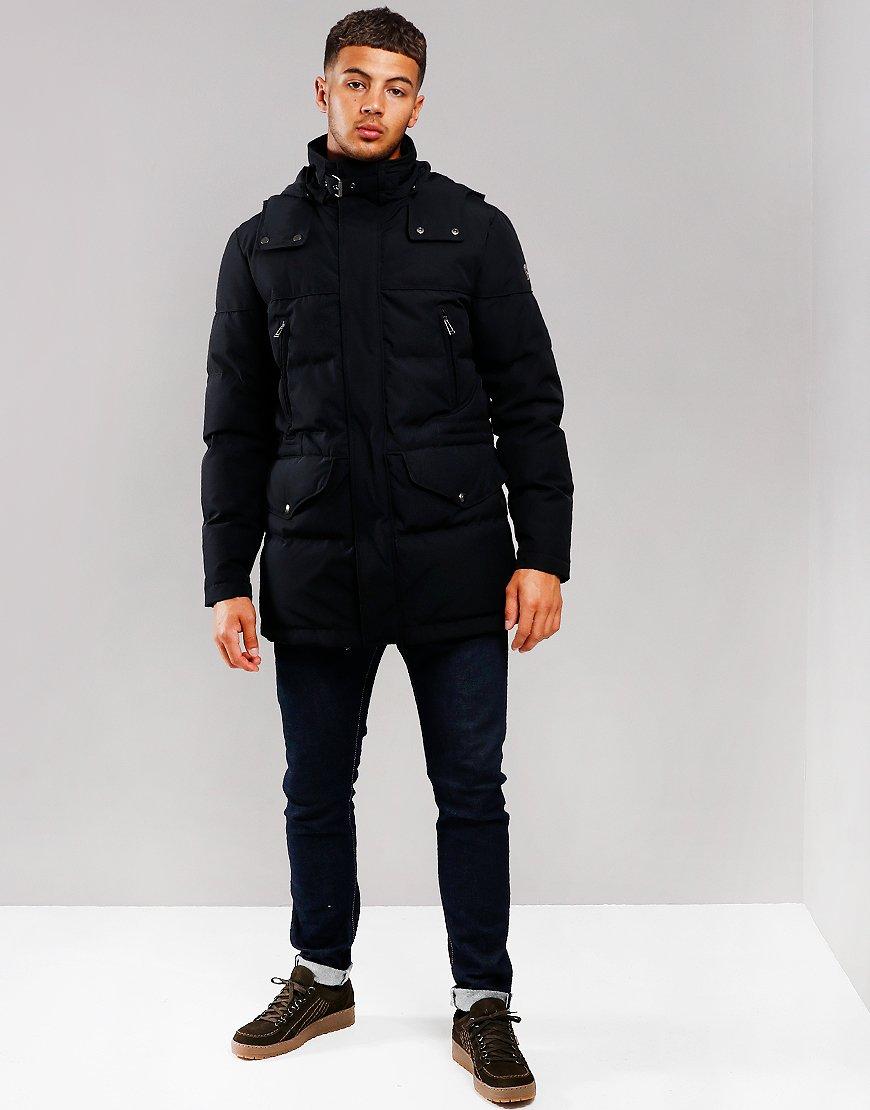 Belstaff Traverse Parka Jacket Dark Navy