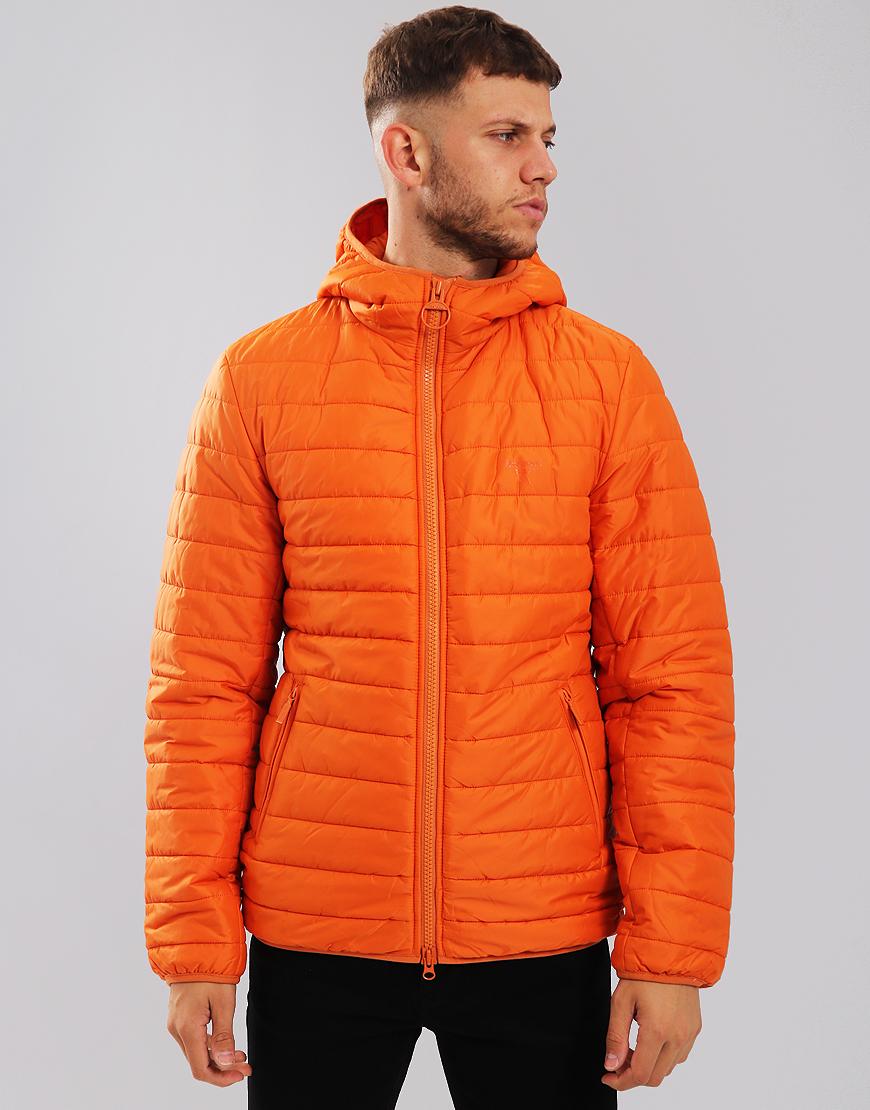Barbour Beacon Birkhouse Quilted Jacket Burnt Orange