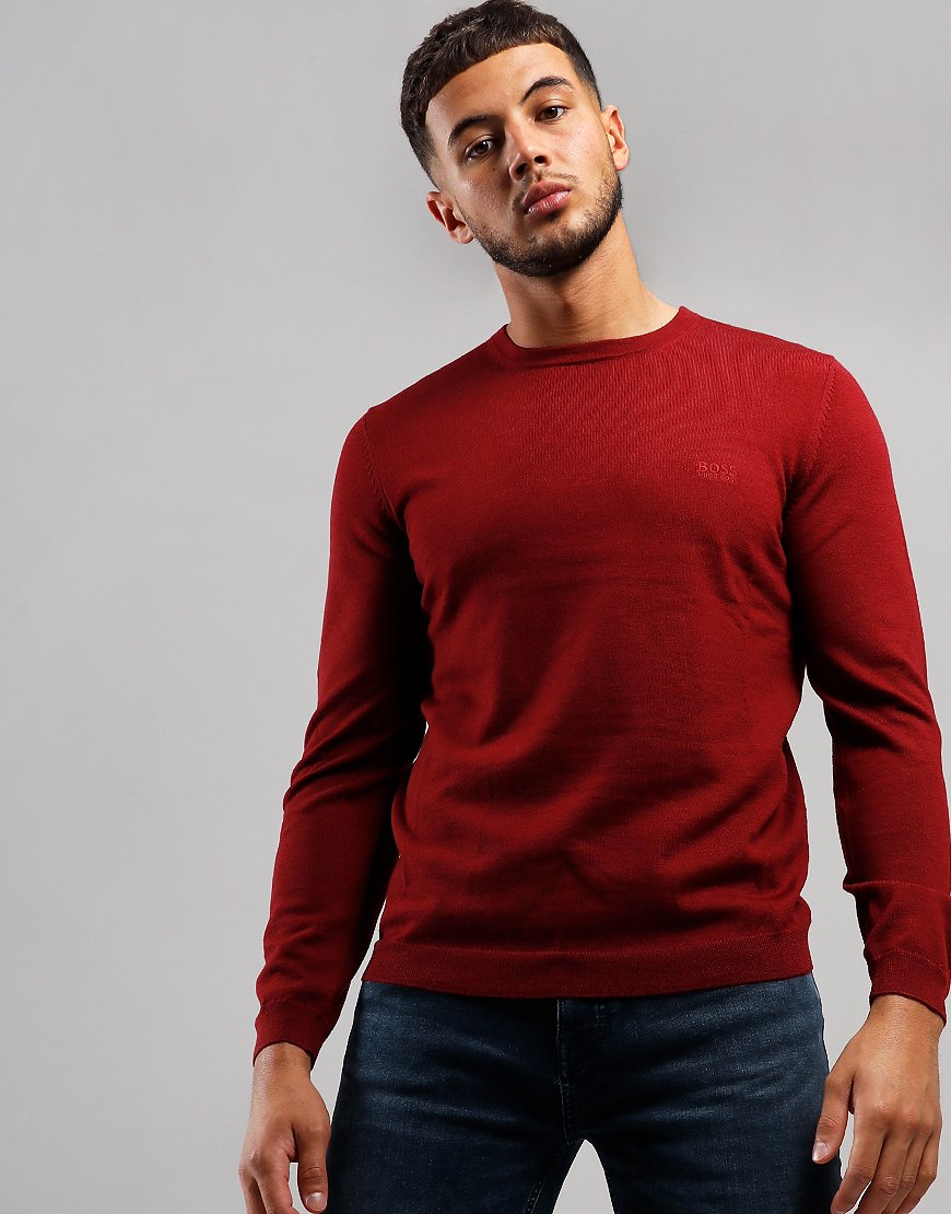 BOSS Raio 1 Crew Neck Knit Dark Pink