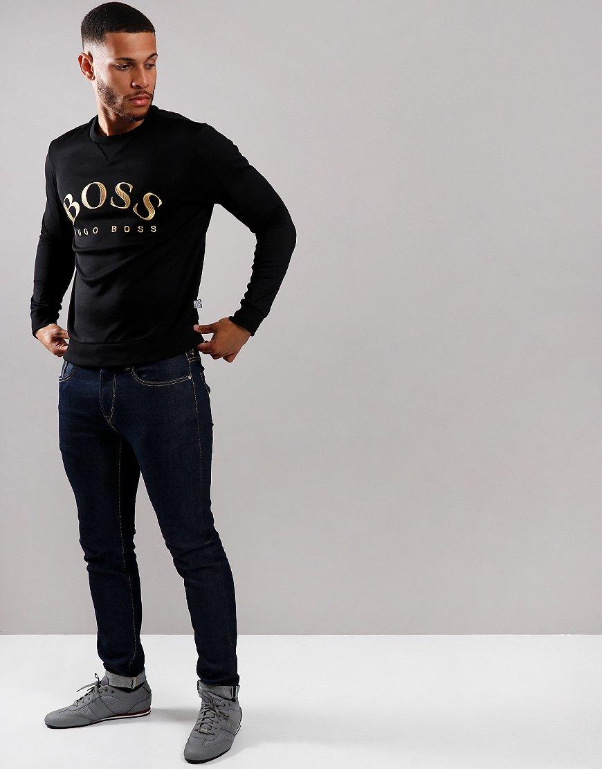 BOSS Salbo Embroidered Logo Sweat Black