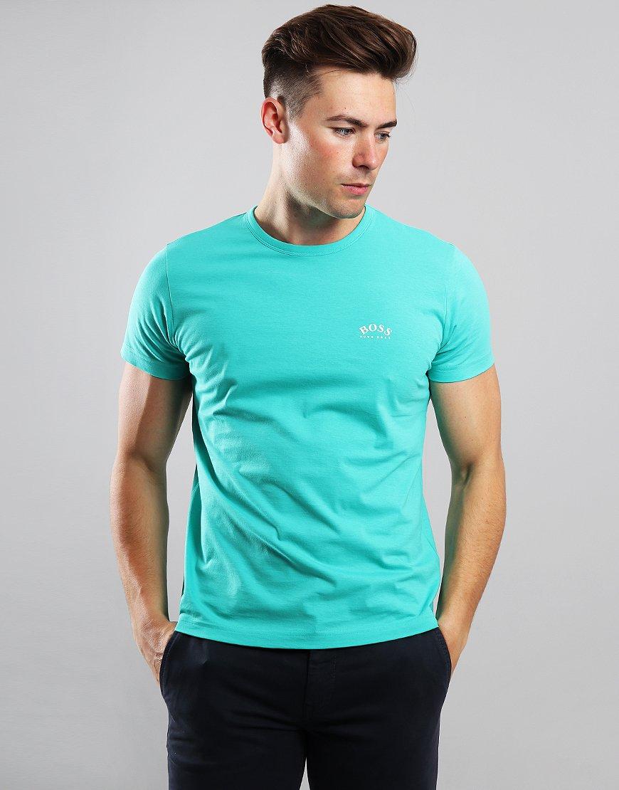 BOSS Curved Logo T-Shirt Light Pastel Green