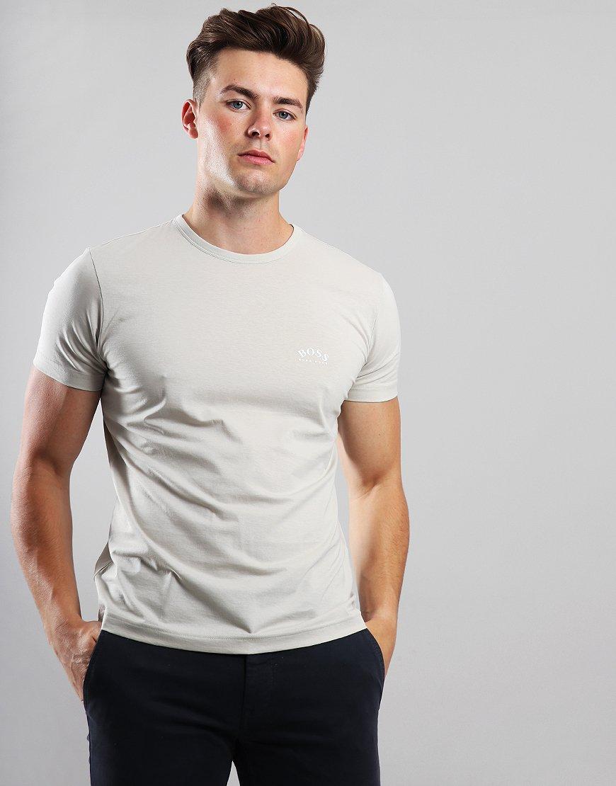 BOSS Curved Logo T-Shirt Light Beige