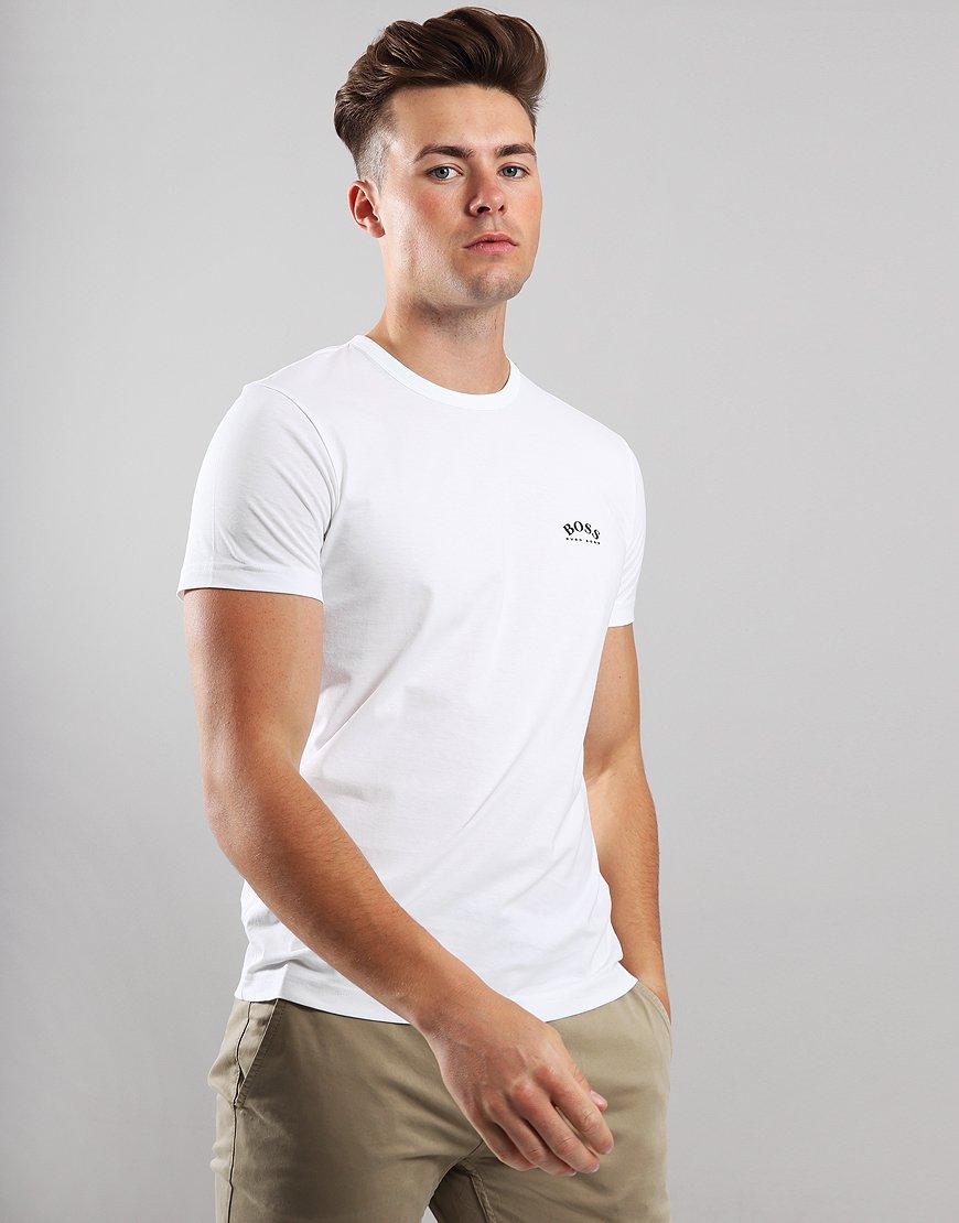 BOSS Curved Logo T-Shirt White