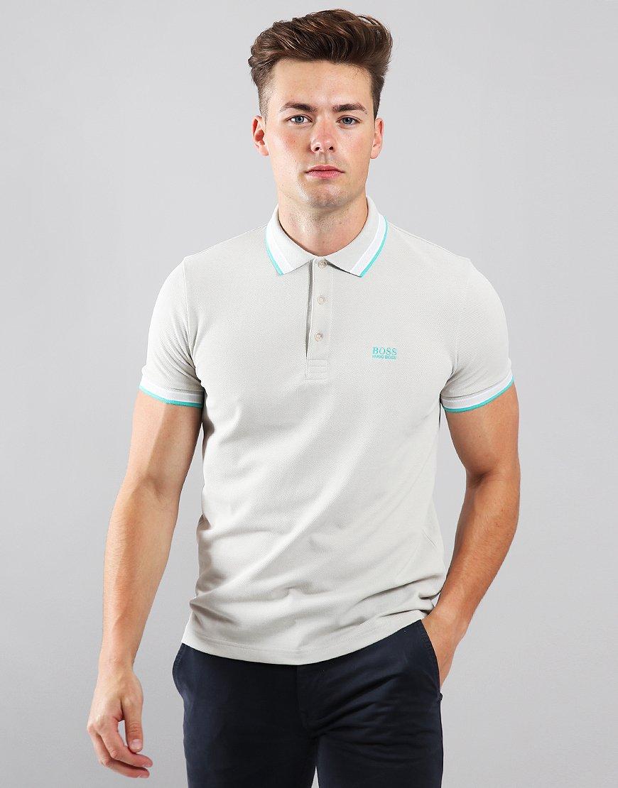 BOSS Paddy Regular Fit Polo Shirt Light Beige