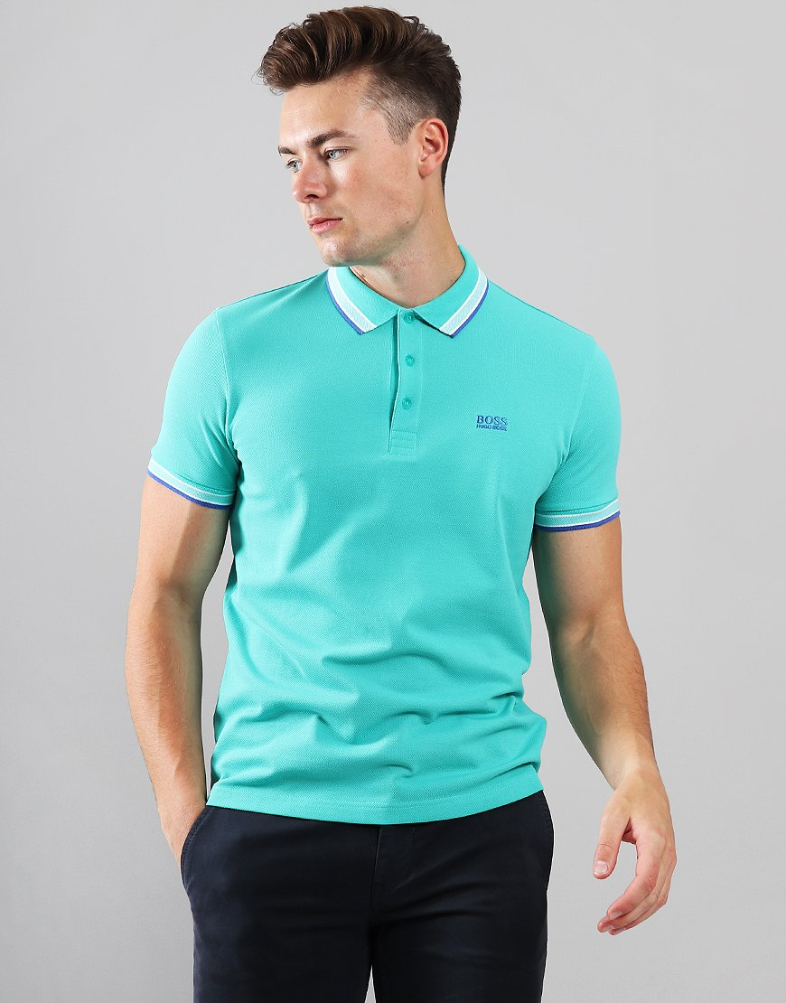 BOSS Paddy Regular Fit Polo Shirt Light Pastel Green