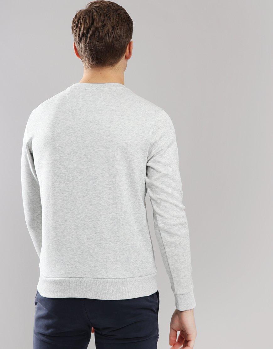 BOSS Salbo Slim-fit Sweat Light Pastel Grey