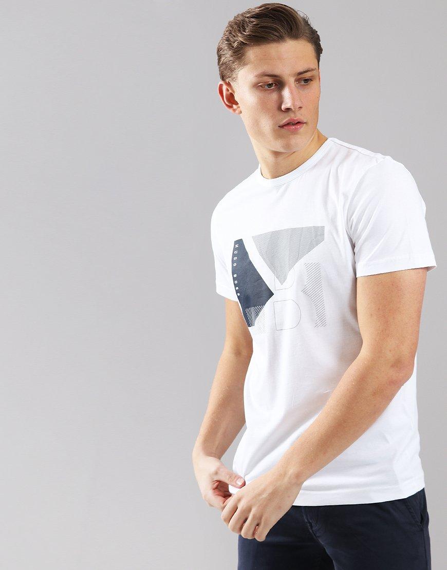 BOSS Cotton Colour-block Artwork T-shirt White