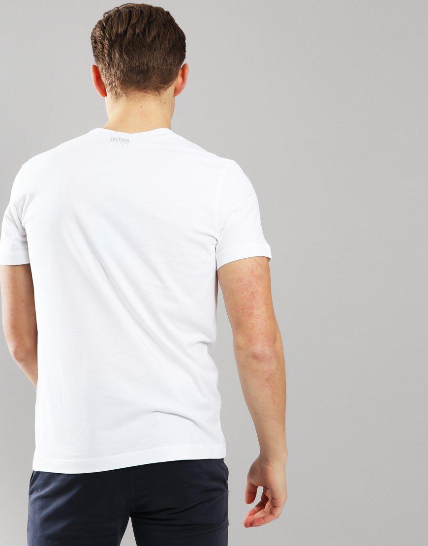 d2bf534f5 BOSS Cotton Colour-block Artwork T-shirt White - Terraces Menswear