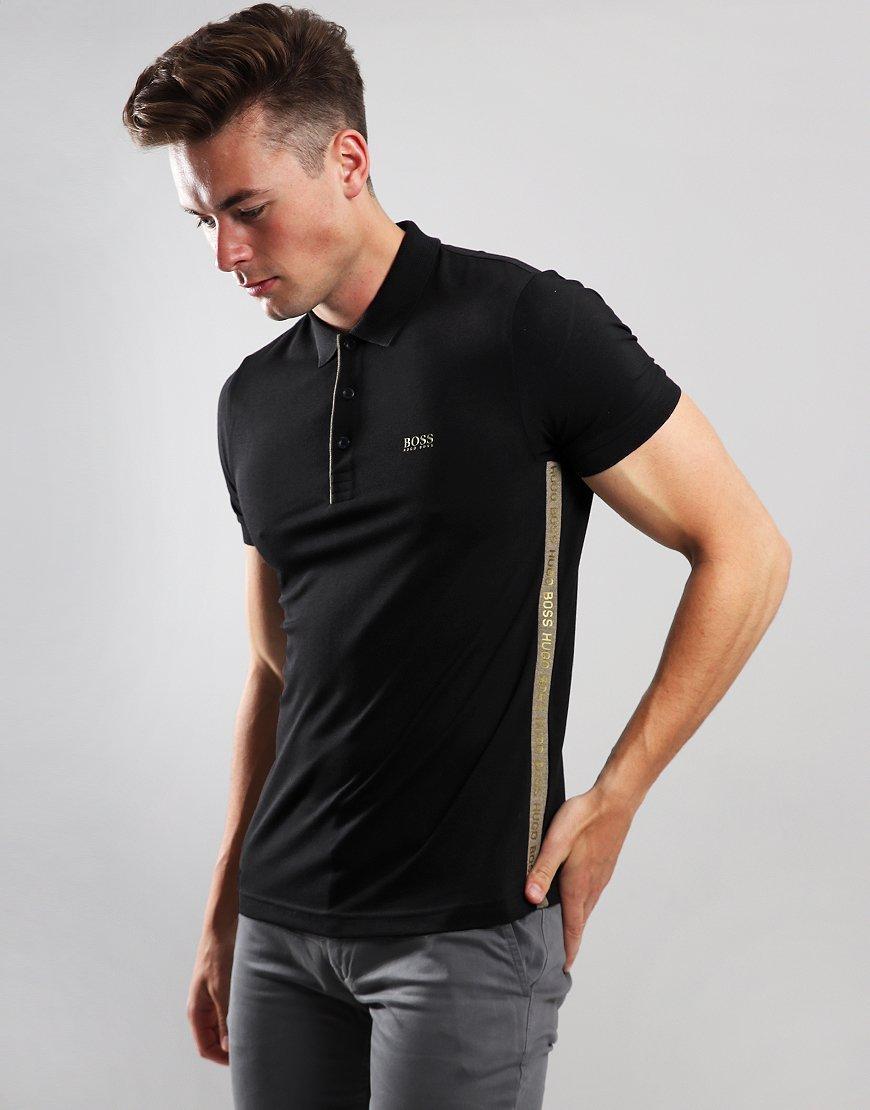 BOSS Paule Slim Fit Polo Shirt Black