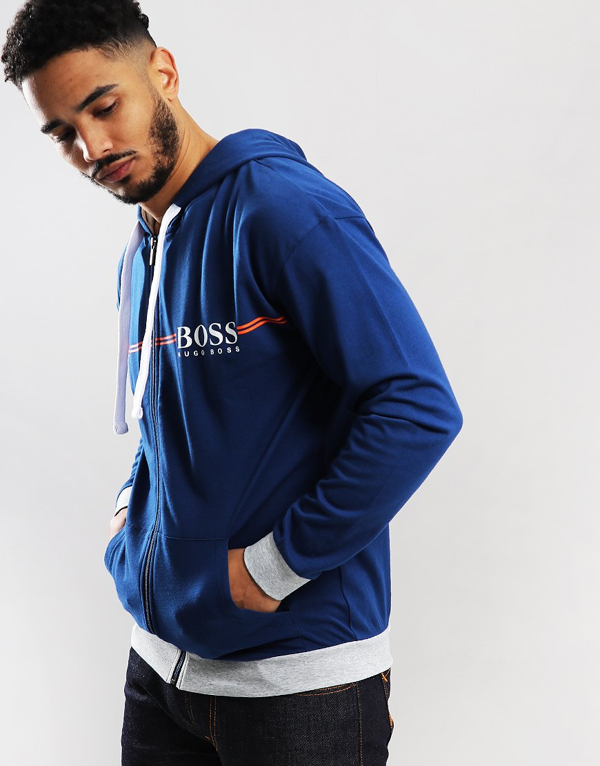 BOSS Authentic Zip Hoodie Bright Blue