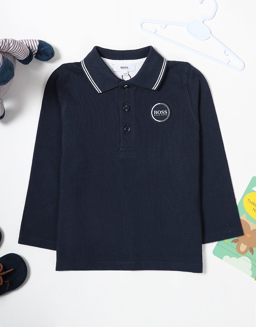 077011c2 BOSS Baby Long Sleeve Polo Shirt Navy