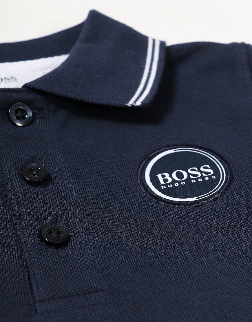 834e83860 BOSS Baby Long Sleeve Polo Shirt Navy - Terraces Menswear