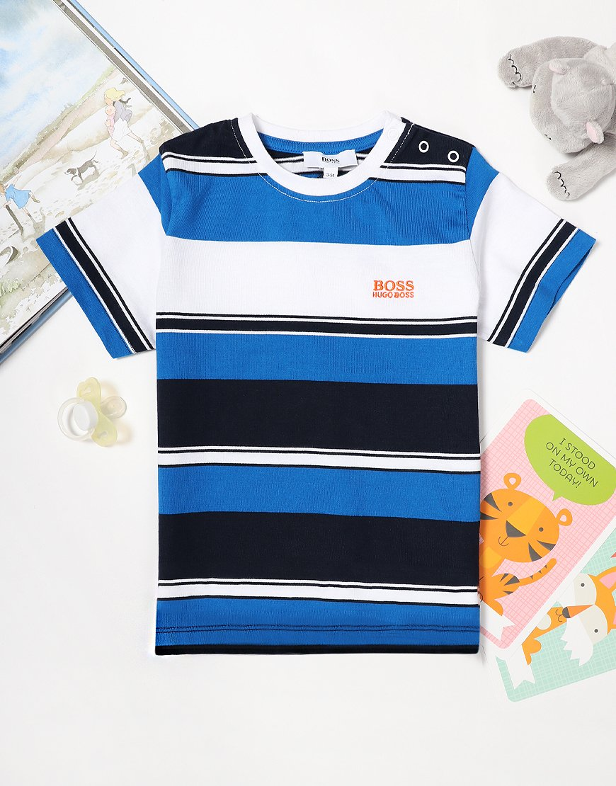 BOSS Baby Stripe T-Shirt Navy Blue