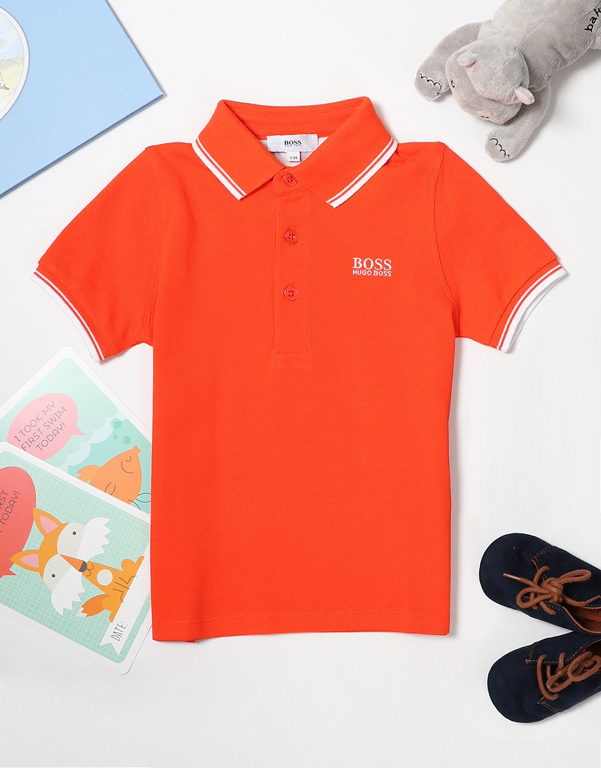 BOSS Baby Tipped Polo Shirt Poppy