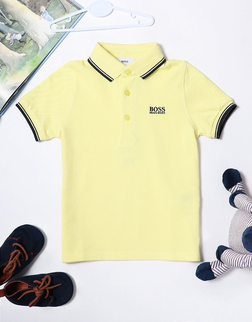 BOSS Baby Tipped Polo Shirt Yellow