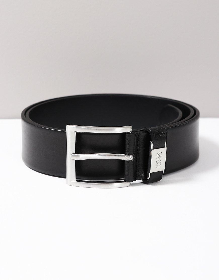 BOSS Connio Leather Belt Black