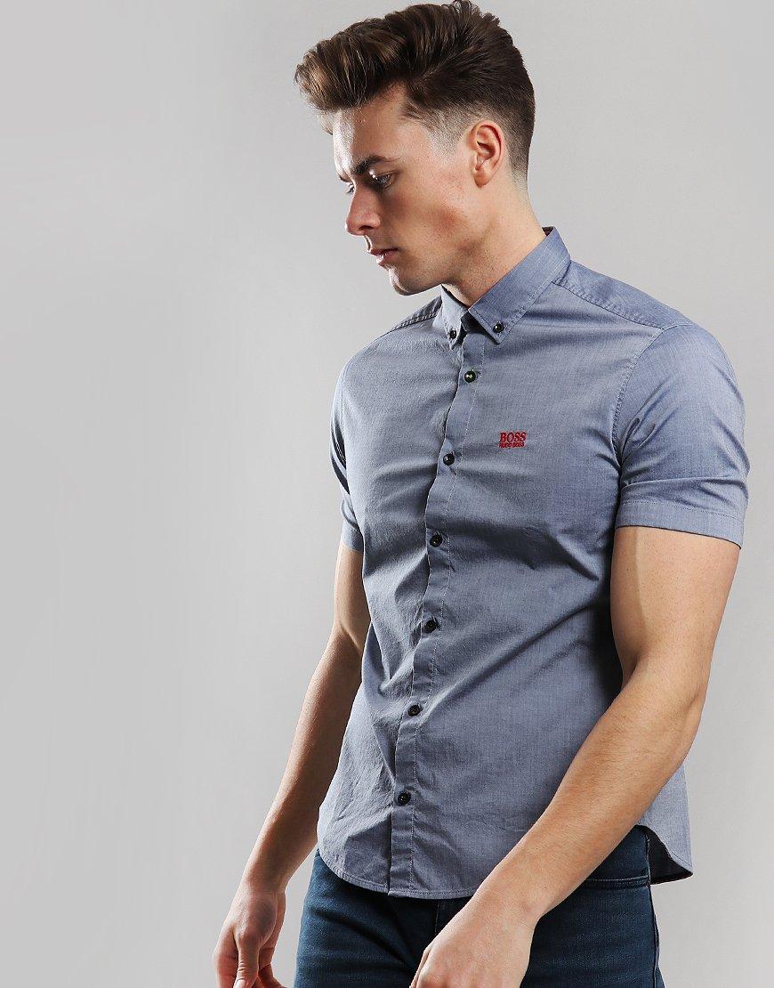 BOSS Biadia R Shirt Open Blue