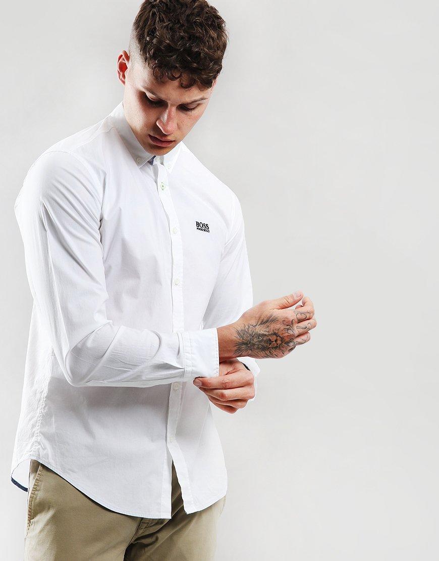 BOSS Biado R Long Sleeve Shirt  White