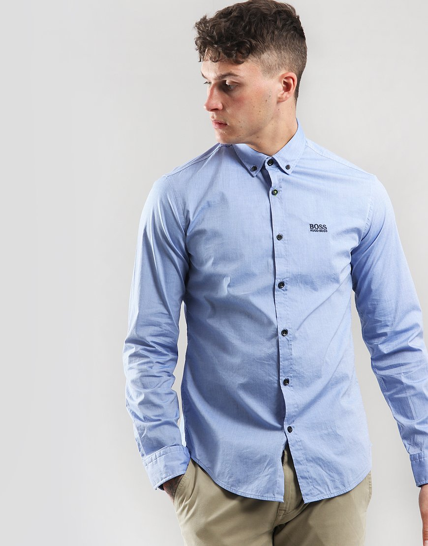 BOSS Biado R Long Sleeve Shirt Medium Blue